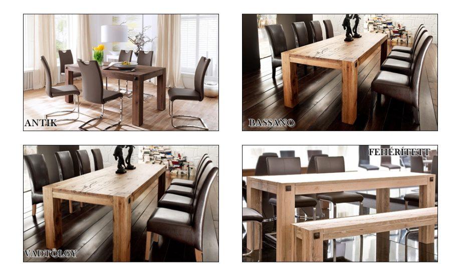 ITA – Leeds tömör tölgyfa étkezőasztal 160180220260300400cm