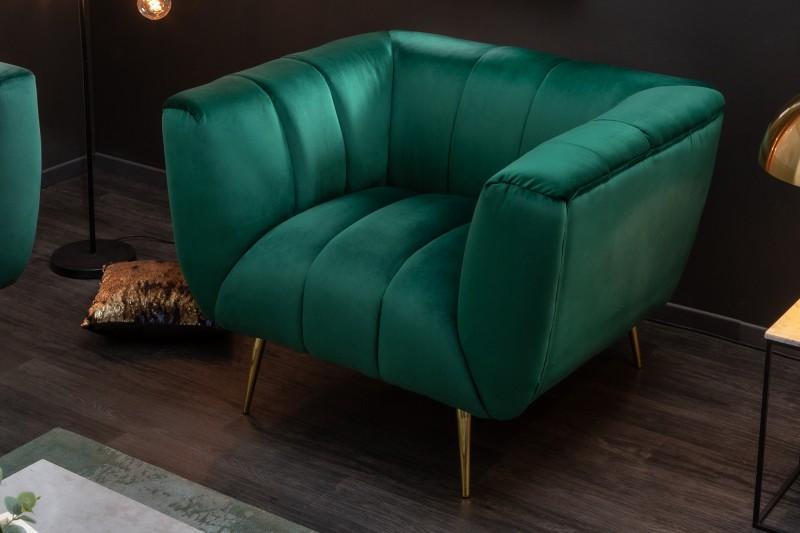 MORYAS bársonyszövetes fotel smaradzöld smaragd green velvet 40404_1