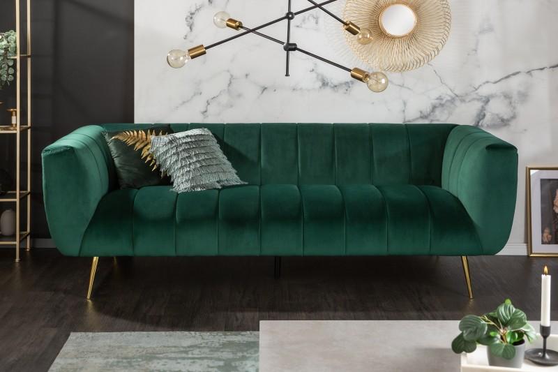MORYAS bársonyszövetes kanapé smaradzöld smaragd green velvet 225cm 40404_1