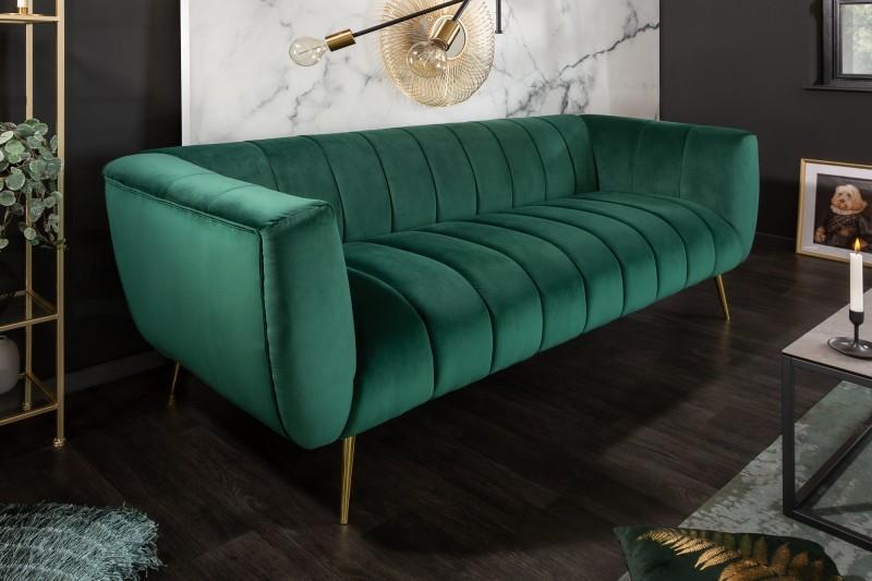 MORYAS bársonyszövetes kanapé smaradzöld smaragd green velvet 225cm 40404_2