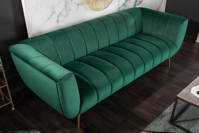 MORYAS bársonyszövetes kanapé smaradzöld smaragd green velvet 225cm 40404_3