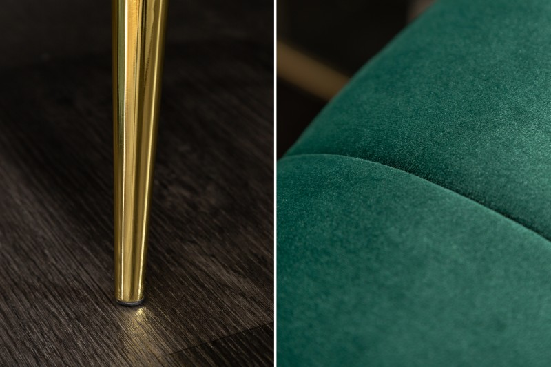 MORYAS bársonyszövetes kanapé smaradzöld smaragd green velvet 225cm 40404_5