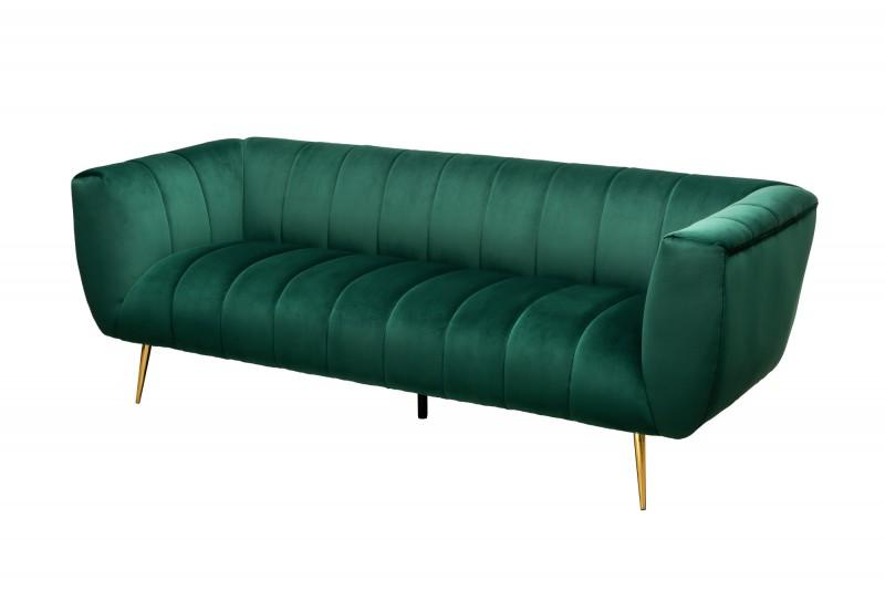 MORYAS bársonyszövetes kanapé smaradzöld smaragd green velvet 225cm 40404_6