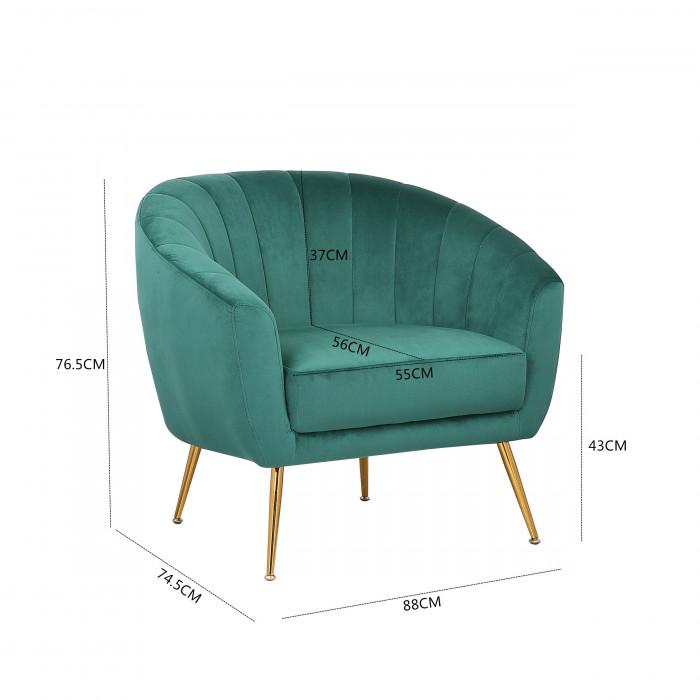 MOB – 1040 Rinida fotel – taupe velvet (4)
