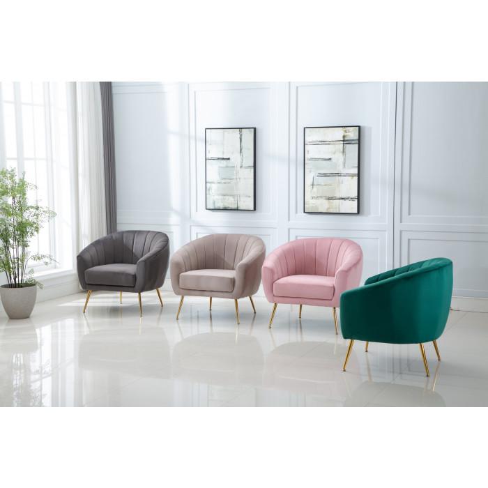 MOB – 1040 Rinida fotel – taupe velvet (5)