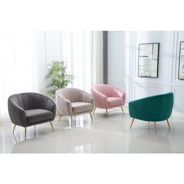 MOB – 1040 Rinida fotel – taupe velvet (6)