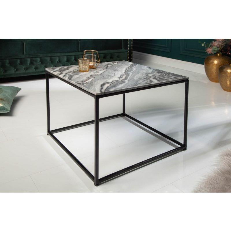 NVI – 40113 Elements Marble dohányzóasztal 50 – grey (1)