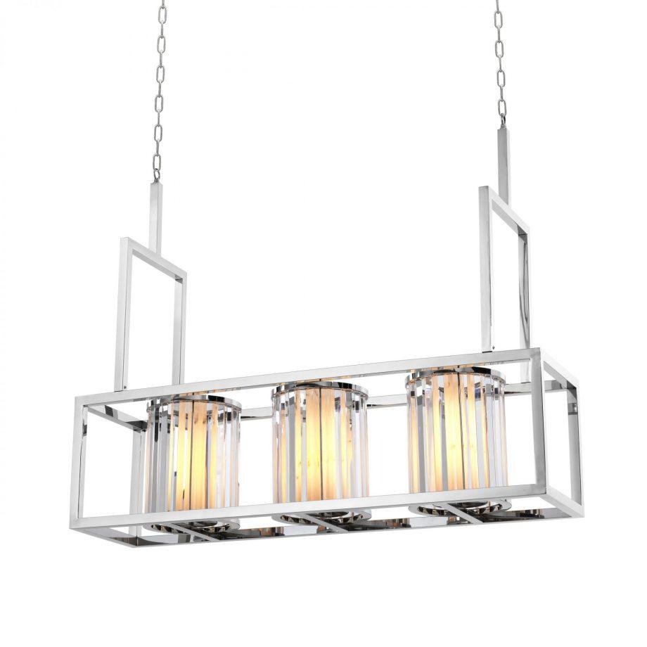 EICHHOLTZ – Carducci lámpa ø120 – polished stainless steel, crystal glass (2)