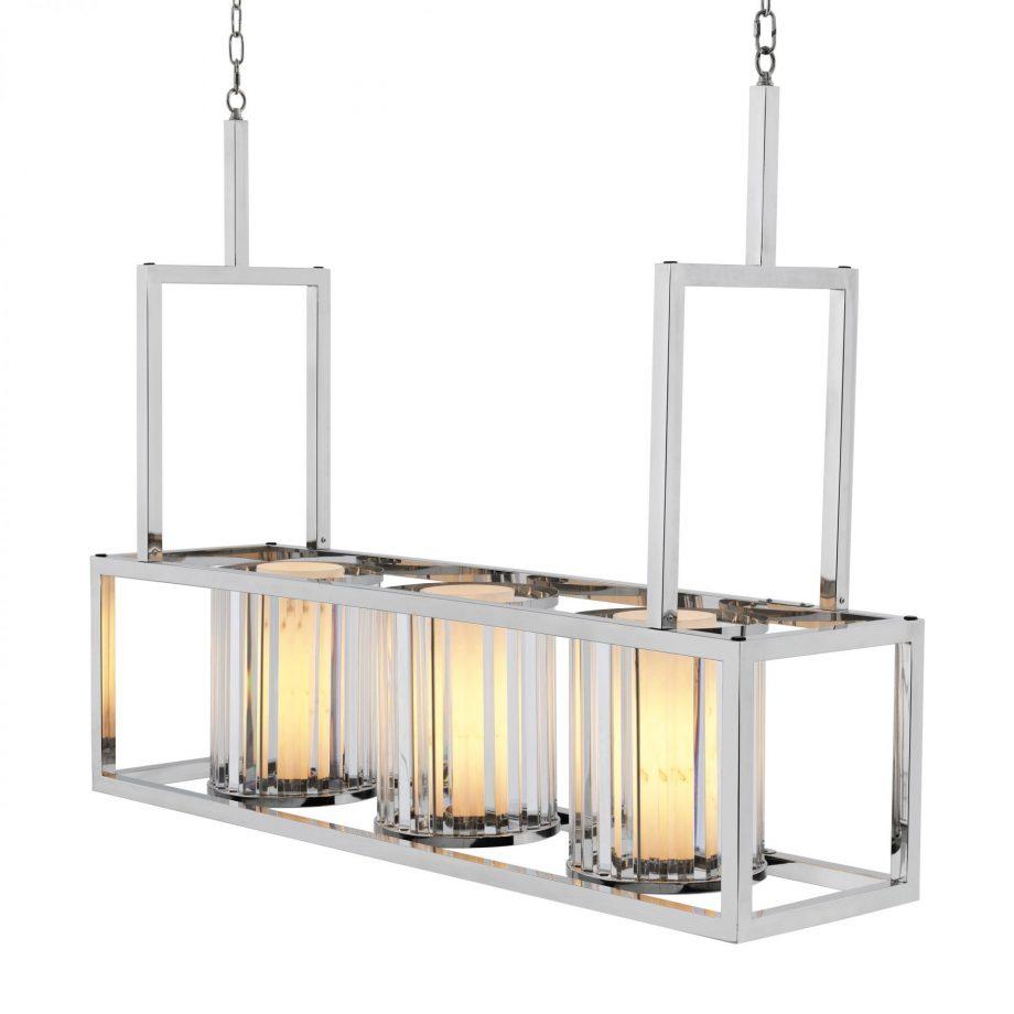 EICHHOLTZ – Carducci lámpa ø120 – polished stainless steel, crystal glass (3)