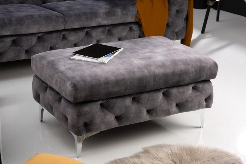 NVI – 41135 Modern Barock puff – darkgrey velvet (12)