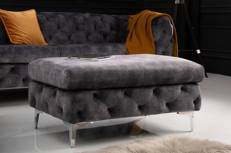 NVI – 41135 Modern Barock puff – darkgrey velvet (13)