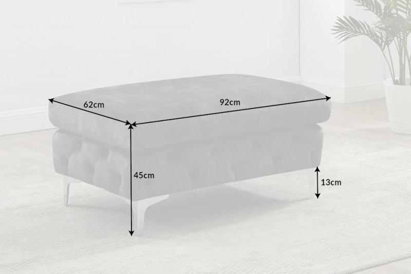 NVI – 41135 Modern Barock puff – darkgrey velvet (7)