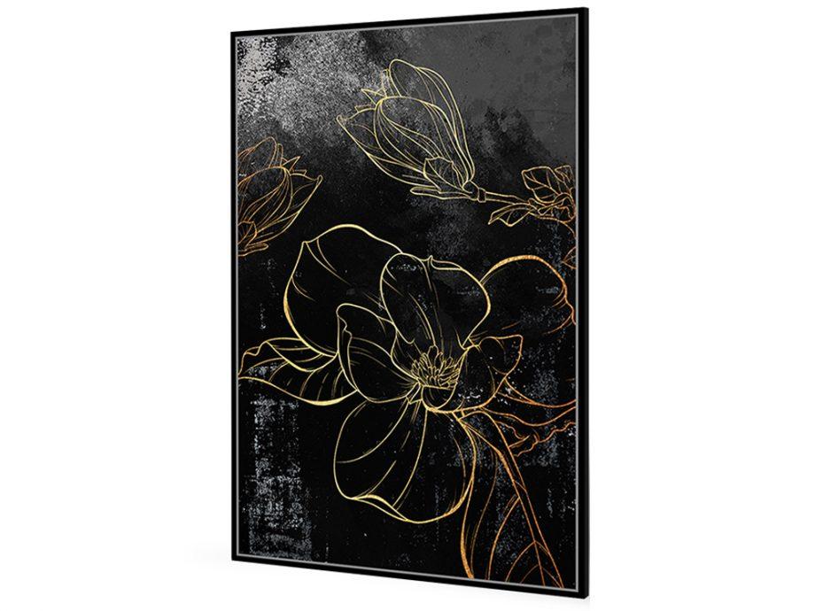 pol_pl_Czarny-obraz-zlote-kwiaty-82-6×122-6-cm-L0145-1666_1