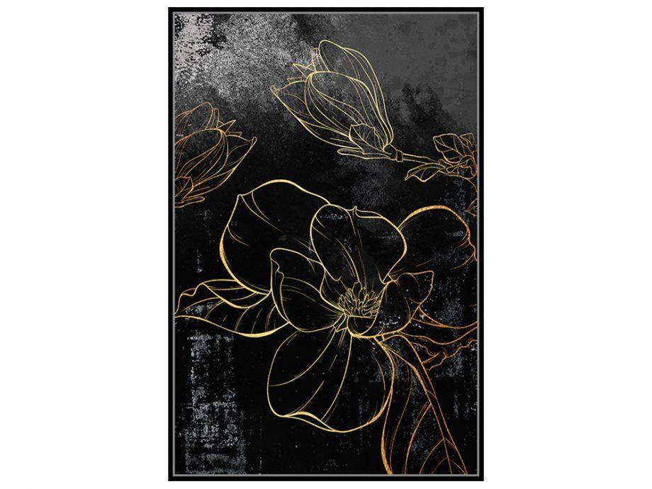 pol_pl_Czarny-obraz-zlote-kwiaty-82-6×122-6-cm-L0145-1666_2