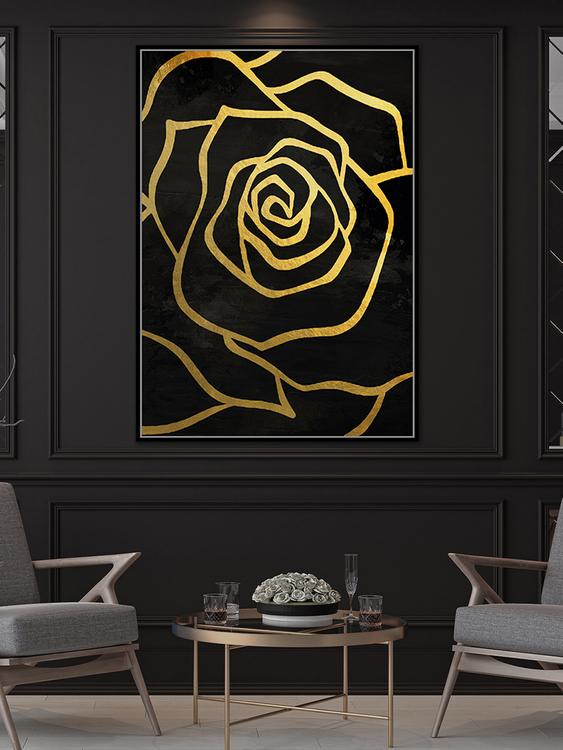 pol_pl_Czarny-obraz-zlote-kwiaty-82-6×122-6-cm-L0259-1667_3