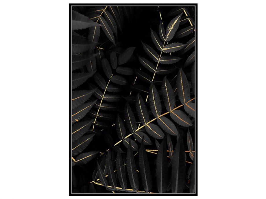 pol_pl_Czarny-obraz-zlote-kwiaty-82-6×122-6-cm-L0269-1671_2