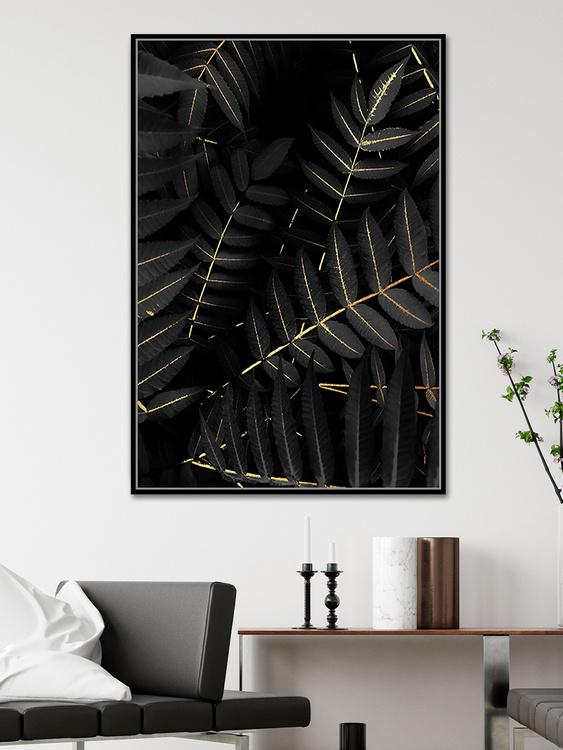 pol_pl_Czarny-obraz-zlote-kwiaty-82-6×122-6-cm-L0269-1671_3