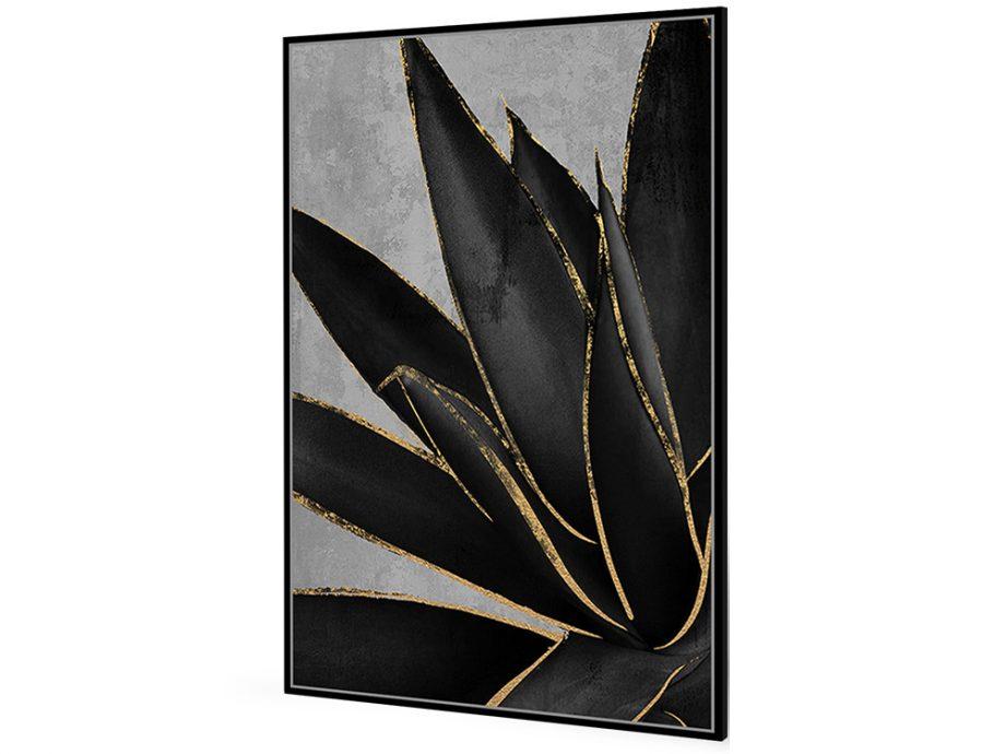 pol_pl_Czarny-obraz-zlote-kwiaty-82-6×122-6-cm-M0220-1672_1