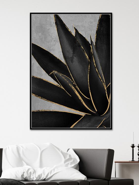 pol_pl_Czarny-obraz-zlote-kwiaty-82-6×122-6-cm-M0220-1672_3